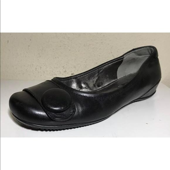 0b039b9d Ecco Women Shoes Loafers Sz Eu 37 US 7 Blk Leather
